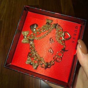 ❤️ 3/30$ Guess gold bracelet and earrings